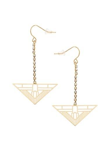 Coquet Accessories Altın Rengi Üçgen Küpe Altın